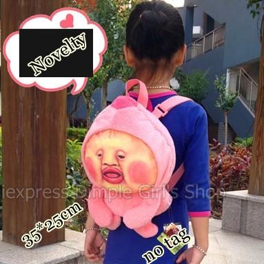 Здесь можно купить  1PC Free Shipping 35cm New 2014 Novelty Cute Japanese Anime Pink Women Children Printing Backpack Luggage & Bag For Teenager Kid  Камера и Сумки