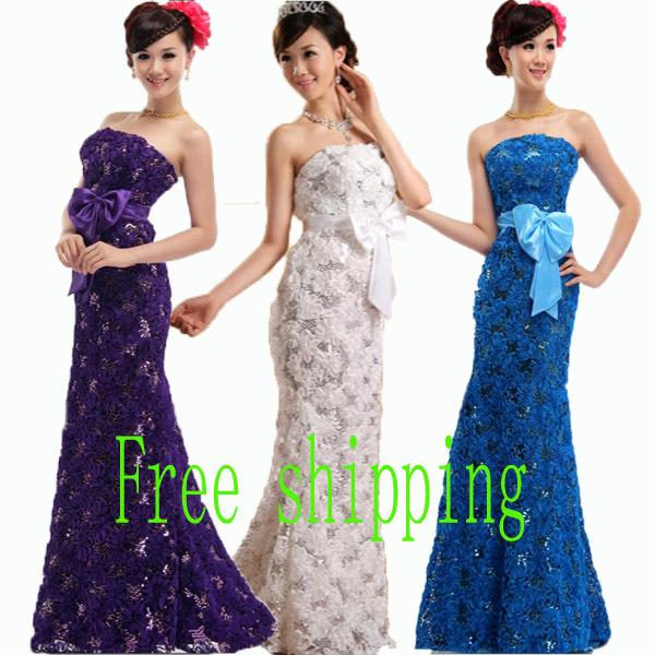 Plus size lace up graduation dress 2015 lace flower long bandage fish tail formal evening dress graduation party dress(China (Mainland))