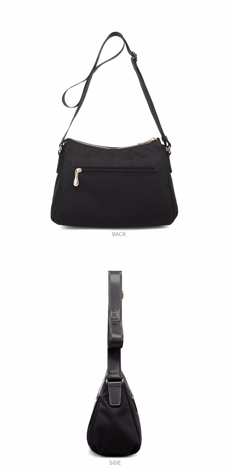 Laifu Famous Brand Women Nylon Messenger Bag Teenage Girls Luxury Handbags Canvas Satchel European and American Style