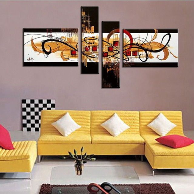 Free Shipping !! The Impressionist City! ! Huge  Real Handmade Modern  Oil Painting On Canvas Wall Art ,Z066