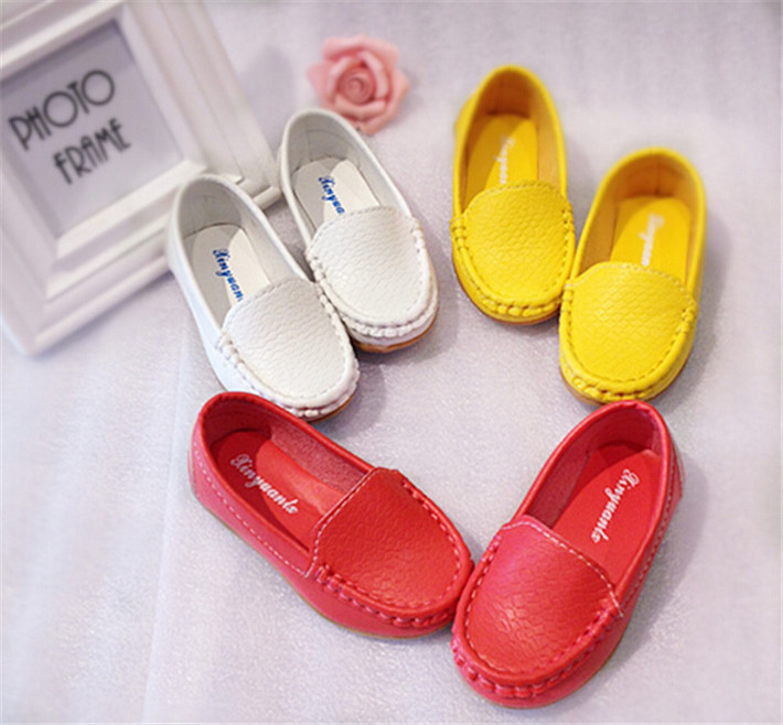 new arrival kid's fashion solid pu leather shoes casual sports shoes for boys and girls wholesale and retail size 21-26(China (Mainland))
