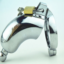 2016 New Male Metal Chastity Devices/Cages with Urethral Catheter Cock Cage with Lock Penis Ring Adult Games Sex Toys for Men(China (Mainland))