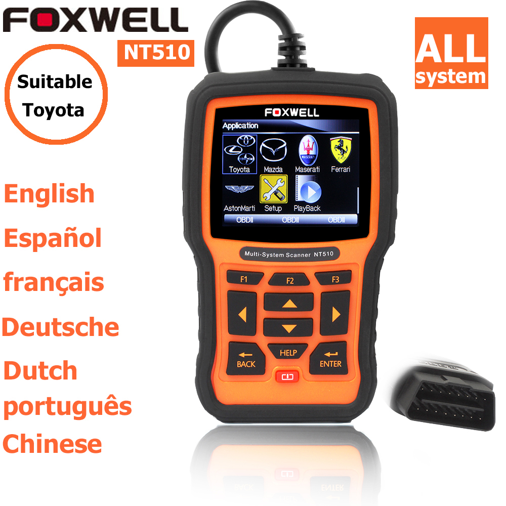 foxwell nt 510 for Toyota Professional OBD/OBDII Standard Latest auto diagnostic scanner obd code readers scan tools obd2 scann(China (Mainland))