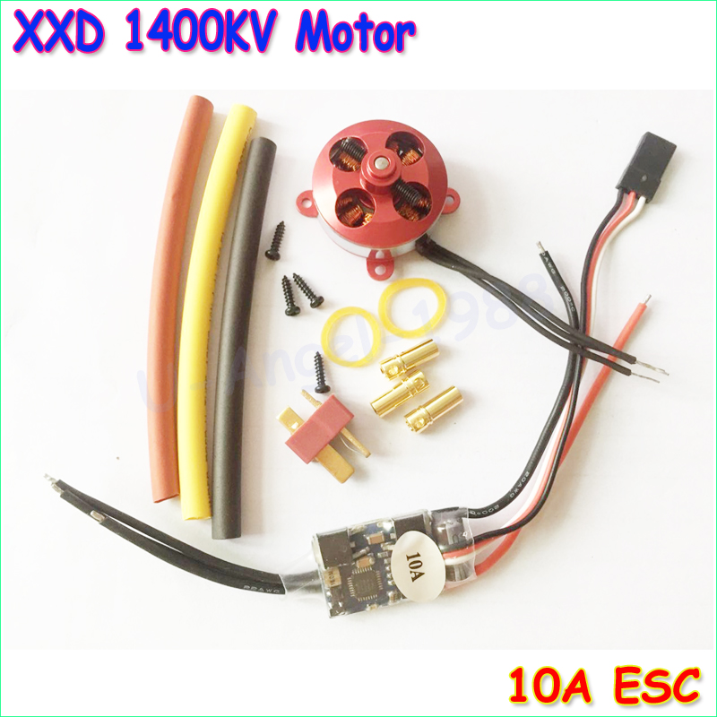 A 2204 A2204 7.5A 1400KV 50W SP Micro Brushless Motor W/ Mount + 10A ESC For RC Aircraft/KK copter Quadcopter UFO(China (Mainland))