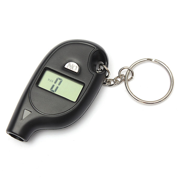 Keychain LCD Digital Tire Tyre Air Pressure Gauge For Auto Car Truck Motorcycle Free shipping(China (Mainland))