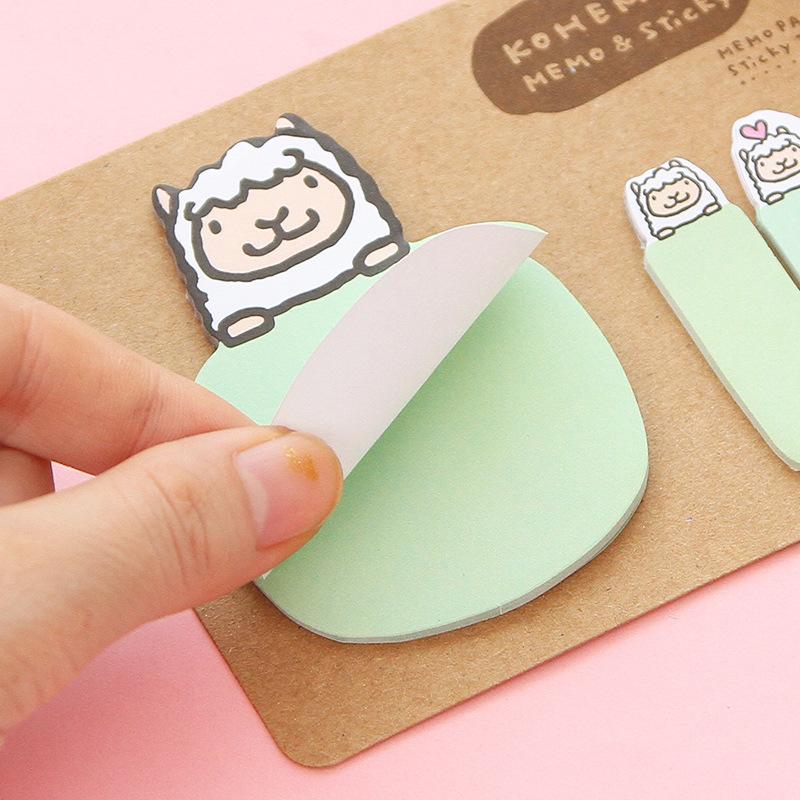 DIY Cute Animated Cartoon Creative Stationery Notebook / Sticker Sticker Notebook Self Adhesive Bookmark School Office Supplies(China (Mainland))