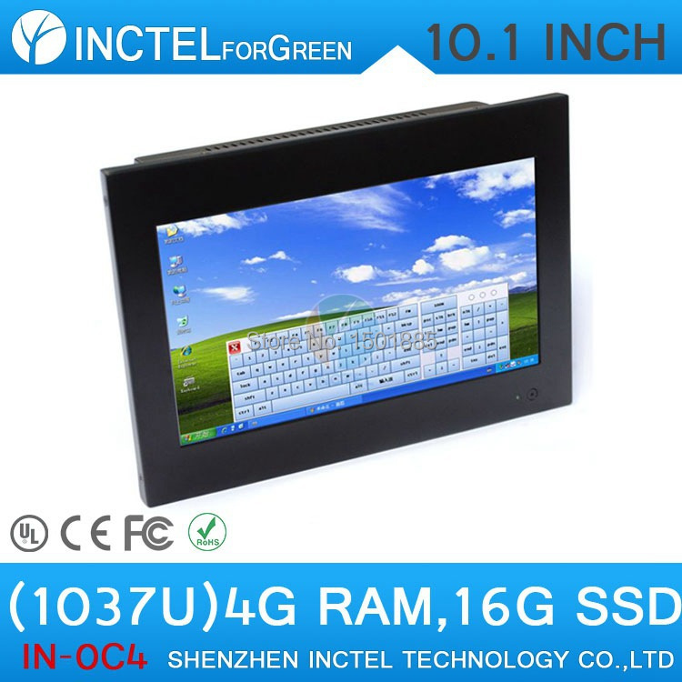 """10.1"""" Intel C1037U 1.8G 4G RAM 16G SSD Touch Screen Desktop PC All in One PC for Office or Home Use(China (Mainland))"""
