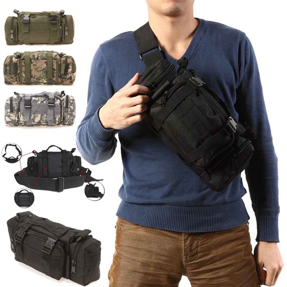 3P Canvas Molle Utility Sport Hiking Military Duffle Tactical Waist Bag Backpack(China (Mainland))
