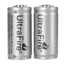 Buy  (2pcs/ lot) Rechargeable 3.6V 880mAh LC Li-ion 16340 Battery Protected Lithium Battery CR123A 16340 Batteries for $5.47 in AliExpress store