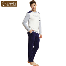 Male Autumn&Winter Long-sleeve Cotton Modal Sleepwear Brand Pajamas Men Casual Clothing Lounge Set Pijama Plus Size Pyjamas(China (Mainland))
