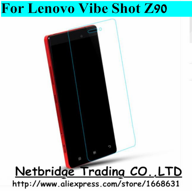 0.26mm Utra-thin 9H For Lenovo VIBE Shot / Z90-7 2.5D Arc Edge Super Clear Premium Tempered Glass Screen Protector(China (Mainland))