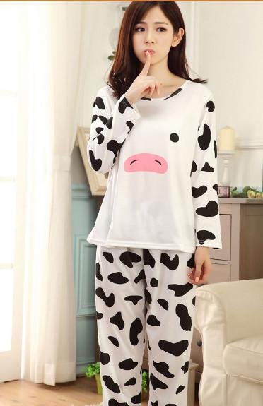 2015 New Cotton WOMEN Pajama Sets Long Sleeved O Neck ...