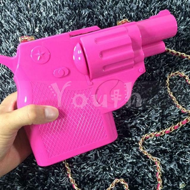 Модные звезды подиум акриловые сцепления личность пистолет сумки пистолет сумки бренда M летом прохладно конфеты вечерняя сумочка-RSQ