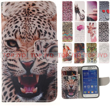 New shoes Tiger Wolf Wallet Flip Leather Case Cover For Samsung Galaxy Core Prime G360 G360H Mobile Phone Bags with Card Slot(China (Mainland))