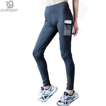 Buy 2016 Spring-Autumn Women's Leggings Mesh Splice Fitness Slim Fitness High Waist Elastic Women Leggings Workout Legging Pants for $11.98 in AliExpress store