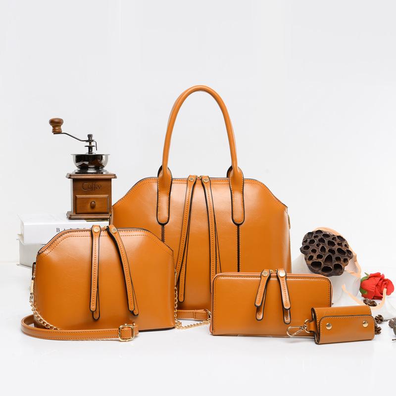 Four sets Composite bag 2016 European style handbag rush minimalist aesthetic fringed Shoulder Messenger Bag classic luxury bags(China (Mainland))