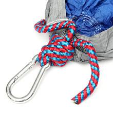 beste werbung blau grau tragbare fallschirm nylongewebe hängematte reisen camping im freien für zwei Personen niedrigsten preis(China (Mainland))