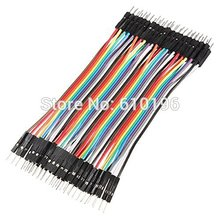 40PCS 10CM 2.54MM Row Male to Male Dupont Cable Breadboard Jumper Wire For arduino(China (Mainland))