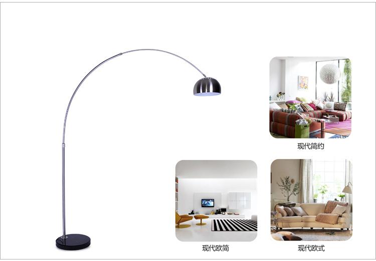 Acquista moderna lampada da terra pesca for Lampada da terra per camera da letto