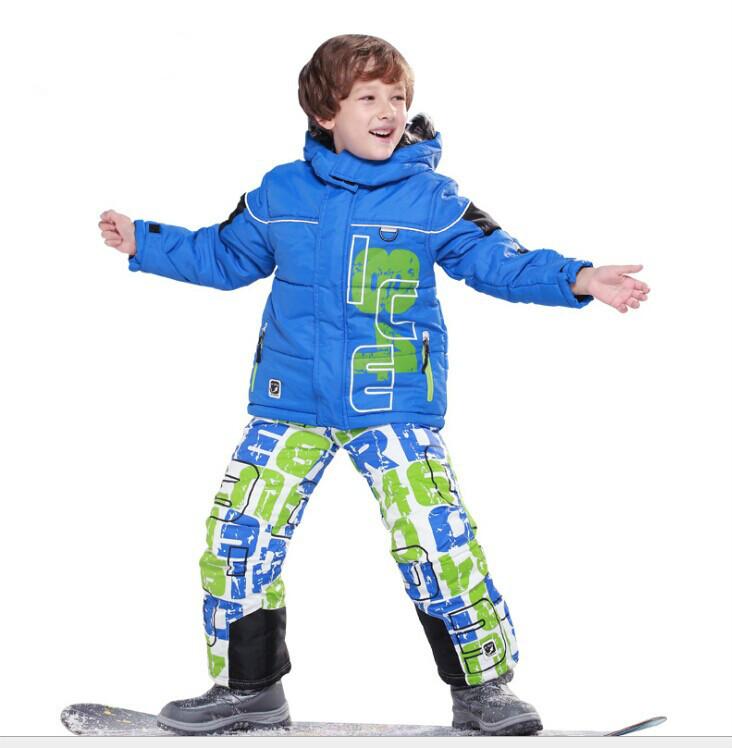 2015 Winter Kids Clothes Set Children Ski Suits Snowboard Wear Clothing Warm Sets Outwear Jacket+Pants(China (Mainland))