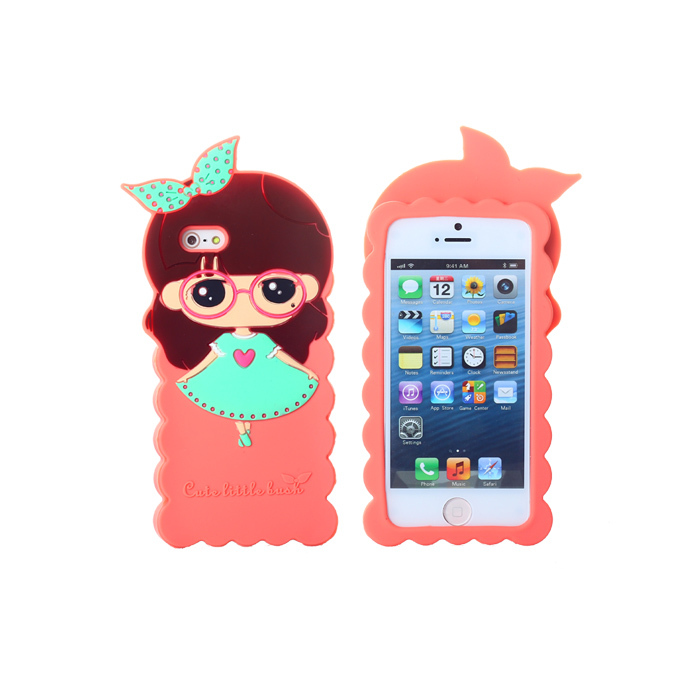 12pcs/lot Girl Cartoon Cute Design House Six Colors to choose Case Protective Back Cover For iPhone 5 5s cases(China (Mainland))