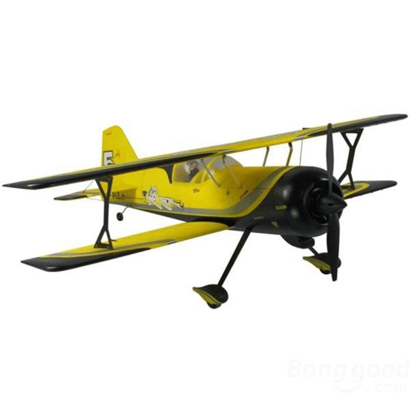 Dynam Pitts Model 12 Yellow 1070mm 42'' Wingspan RC Airplane PNP(China (Mainland))