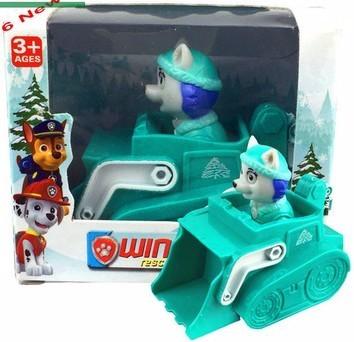 8PCS Russian Cartoon Canine Patrol Puppy Dog Toys Sliding Car Action Figures Doll Model Kids Gift Patrulla Canina juguetes D5250