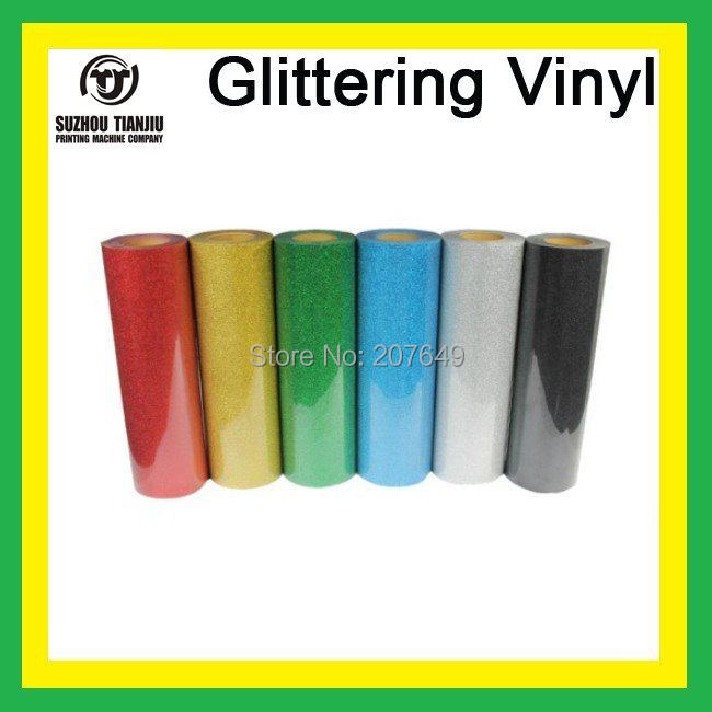TJ High-Quality Glittering heat transfer vinyl,heat transfer glittering vinyl,t-shirts vinyl(width=0.5meter) 6 colors(China (Mainland))