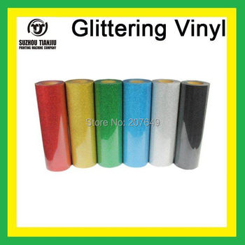 TJ High-Quality Glittering heat transfer vinyl,heat transfer glittering vinyl,t-shirts vinyl(width=0.5meter)  6 colors