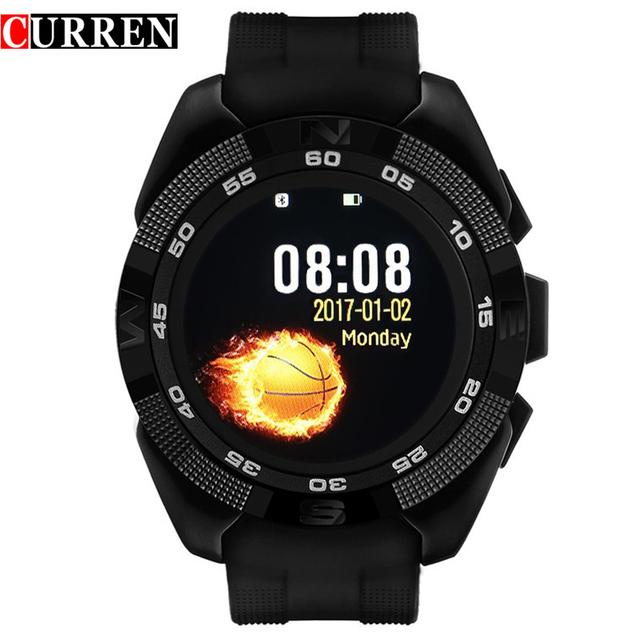 НОВЫЙ CURREN X4 смартфон часы Сердечного ритма Step counter Секундомер Ультра тонкий Bluetooth Носимых Устройств Спорт Для IOS Android