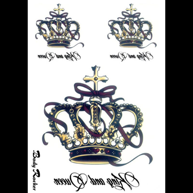 Popular crown letter buy cheap crown letter lots from for Large letter temporary tattoos