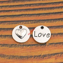 Buy 10pcs Antique Silver Plated Love Heart Charm Pendant fit Bracelet Necklace Jewelry DIY Making Accessories 15x15mm for $1.29 in AliExpress store