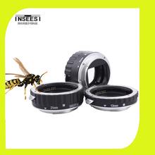 Silver Mount Metal AF Auto Focus Macro Extension Tube Ring For Canon EF EF-S 60D 650D 700D 70D 1DX 1000D 1200D Lens Adapter