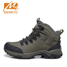 MERRTO Brand Man Skid-proof Genuine Leather Waterproof Hiking Camping Shoes Chukka Outdoor Sport Athletic Hiking Shoes #18638(China (Mainland))