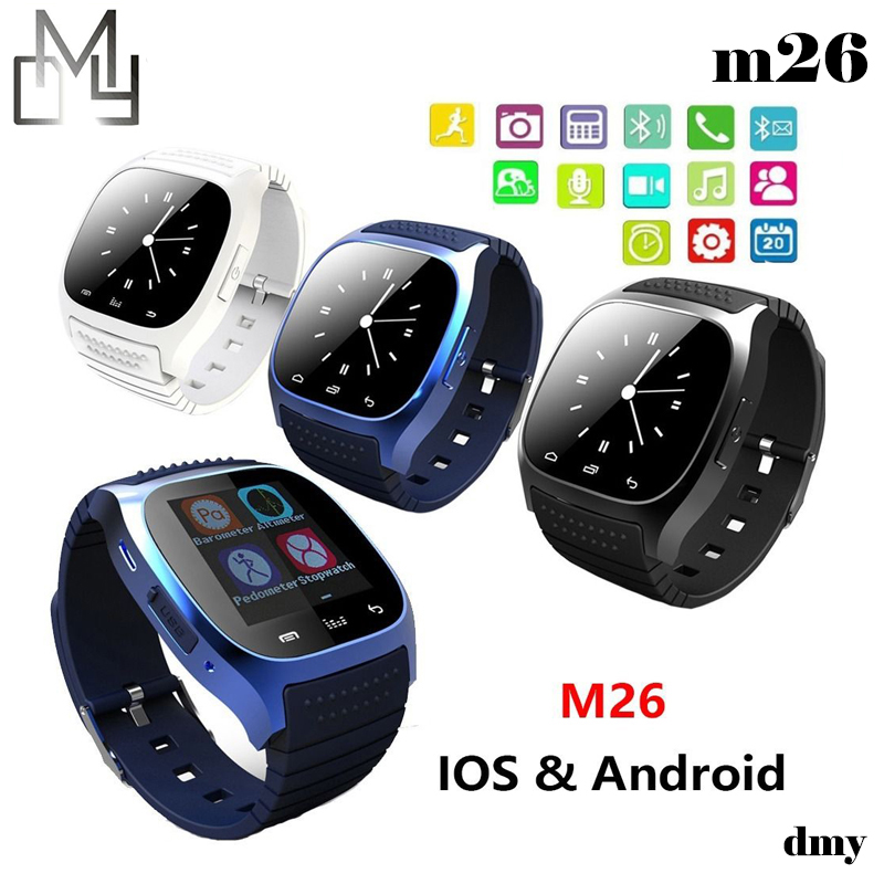Smart Bluetooth Watch Smartwatch M26 with LED Display Barometer Alitmeter Music Player Pedometer for Android IOS Mobile Phone(China (Mainland))