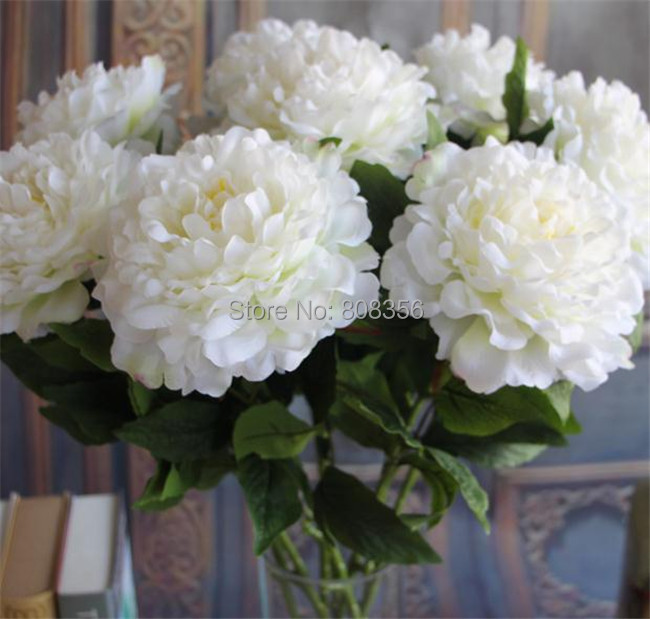 """NEW Fake Peonies 77cm/30.31"""" Length Artificial Silk Flowers Single Alice peony 7 Colors Available for Wedding Photograph Props(China (Mainland))"""