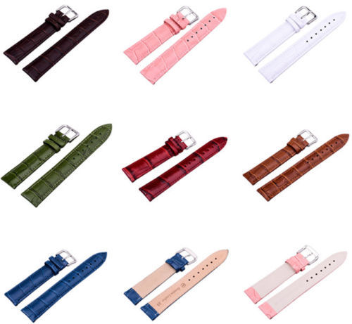 Гаджет  8 Mixed Colors High Quality Unisex Man & Woman 12/14/16/18/20/22/24 mm Genuine Leather Strap Watch Band 1PC Free Shipping None Ювелирные изделия и часы