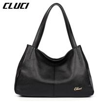 CLUCI Luxury Handbags Genuine Leather Hobo Bag Elegant Vintage Soft Casual Tote Top-handle Shoulder Bags Original Design Totes(China (Mainland))