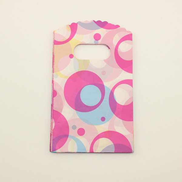 Big Colorful Dot Heart Plastic Gift Bags Shopping Bags ,Packing Bags 15X9CM Free Shipping Jewelry Bags(China (Mainland))