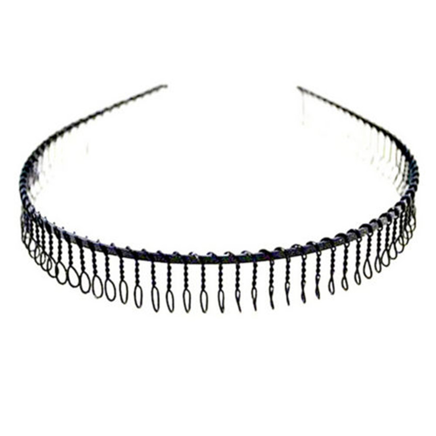 FD3105 new Unisex Toothed Metal Hair Head Band Hoop Hairband Make Up Men Women 1pc(China (Mainland))