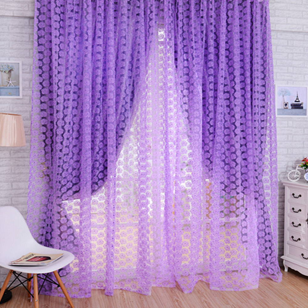 new hot chinese modern window half blackout sheer curtains
