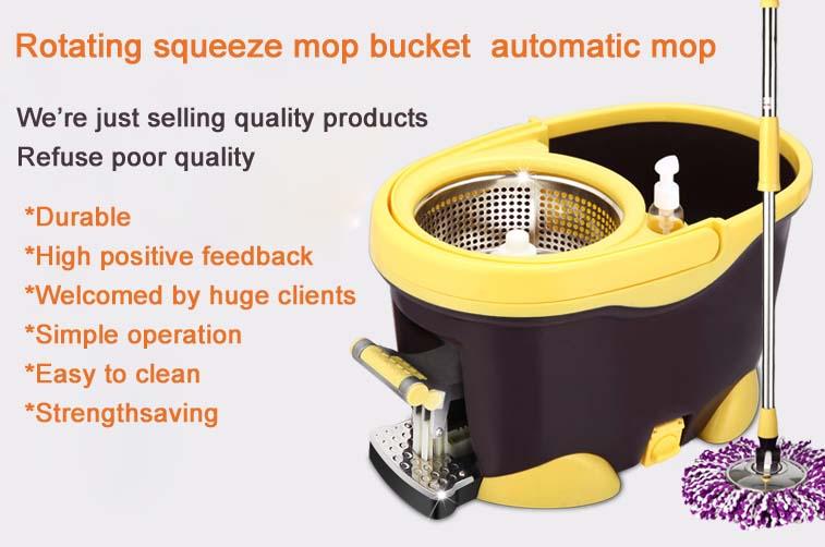 Rotating squeeze mop bucket rotation mop bucket mop automatic mop(China (Mainland))