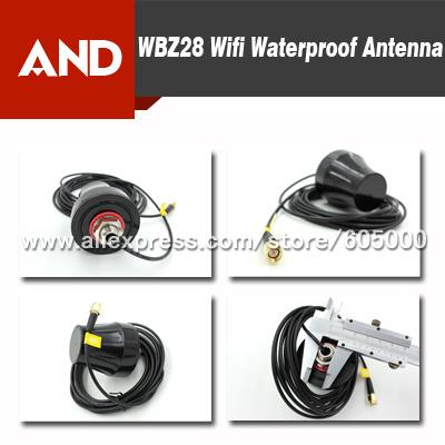 Free shipping 2.4GHz SMA Waterproof Outdoor Antenna wifi wireless antenna,IP67(China (Mainland))