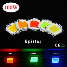 1Pcs Full Watt 100W High Power Integrated Chip Bulb LED lamp Bead SMD For DIY Floodlight Grow light White/Red/Green/Blue/Yellow(China (Mainland))