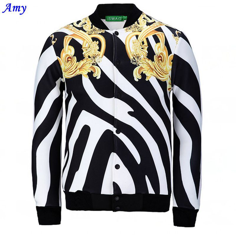 [Amy] 2015 NEW Men/Women 3D Jacket Casual Realistic Print Stripe Style jacket Mens Outerwear Fashion Clothes JK16(China (Mainland))