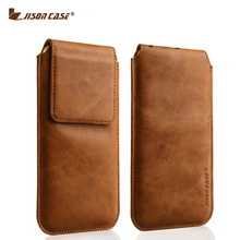 "JISONCASE Case Genuine Leather for iPhone 6 6s 4.7"" Sleeve Pouch Cover for iPhone 6 plus 6splus 5.5"" Phone Case Magnetic Closure(China (Mainland))"