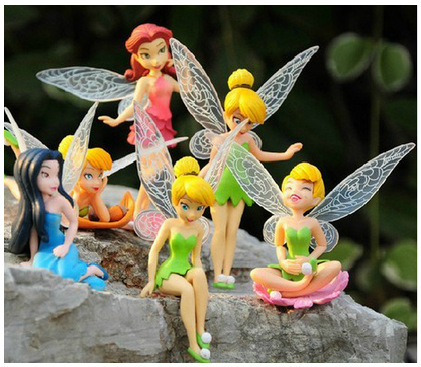 Tinkerbell Fairy Adorable Tinker Bell Toy Figures 6-Piece Playset Favorites Gift(China (Mainland))