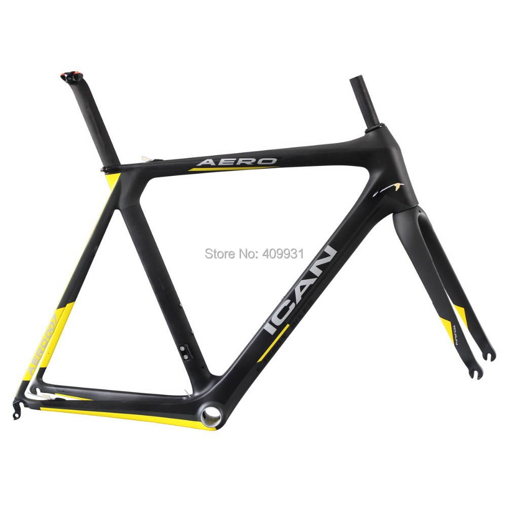 ican Ultralight full 700c racing carbon frame 1050g customized painting carbon fiber road bike frame aerodynamic AERO007(China (Mainland))