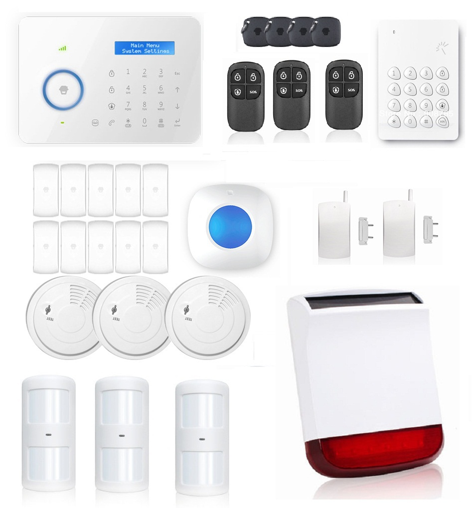 Hot selling Chuango B11 Dual network PSTN and GSM burglar Security Alarm System CG00620kit<br><br>Aliexpress