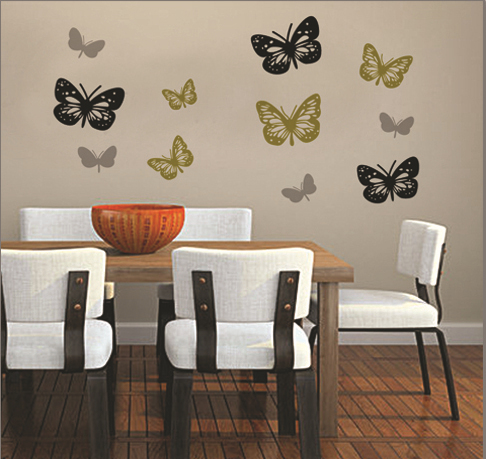 free shipping dropshipping big size butterfly wall sticker. Black Bedroom Furniture Sets. Home Design Ideas
